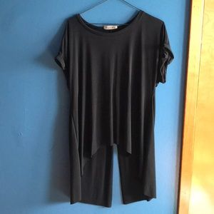 Rolled sleeve t shirt